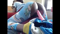 ebony amateur tube quicando no consolo a neguinha