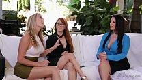 videos amadores os melhores com ruiva, loira, e morena na suruba lesbica